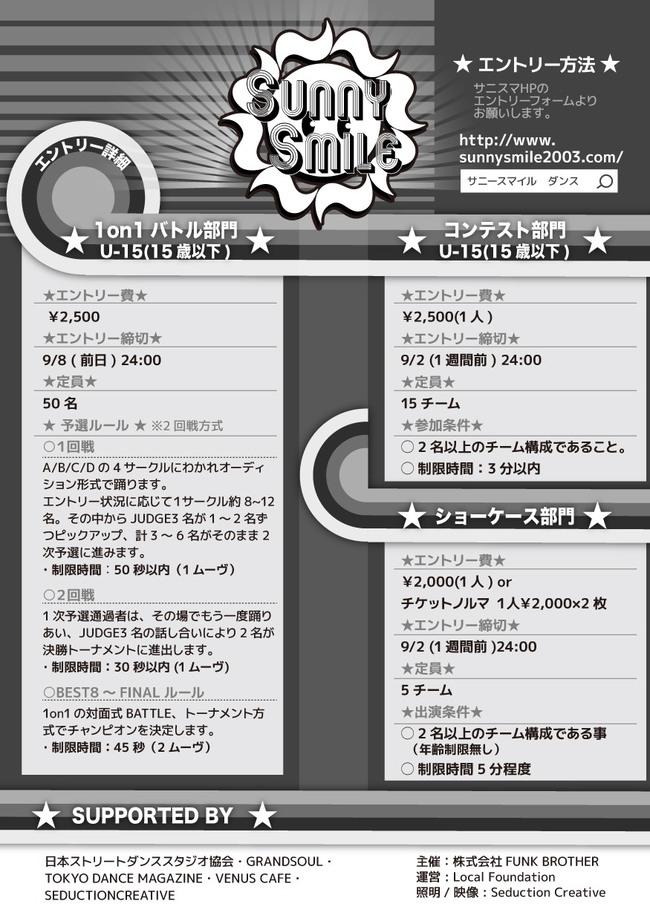 SUNNY SMILE 10 th season 第3回大会のサムネイル画像1